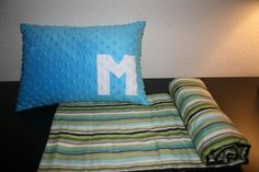 love the minky monogrammed pillow. next sewing project for sure!