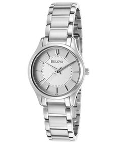 Bulova Silver Dial Stainless Steel Ladies Watch 96L183 * Check out this great product.