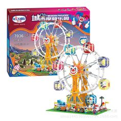 68.00$  Buy now - http://alicyq.shopchina.info/go.php?t=32812011942 - 7036 New City Sreet Ceator Carousel Model Building Blocks Toy Bricks Compatible with Lepin blocks Kids Toys Gifts for children 68.00$ #buyininternet