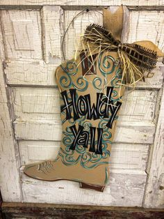 Cowboy+Boot+by+DoorCreationsbyJess+on+Etsy,+$45.00