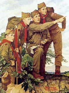 Scouts by Norman Rockwell
