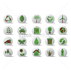 Go green related icons vectors, stock clipart , Technology Logo, Go Green, Vectors, Logo Design, Clip Art, Holiday Decor, Illustration, Icons, Free