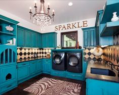 Every laundry room should be this pretty.