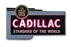 Cadillac Dealer Neon Sign-Chevy Mall