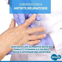 A artrite reumatoide atinge cerca de 2 milhões de brasileiros e pode trazer sérias consequências. É uma doença irreversível, crônica e autoimune, onde o sistema imunológico que protege o organismo, ataca os tecidos do próprio corpo que revestem as articulações. Sintomas como fadiga, dor, inchaço e vermelhidão nas mãos e pés são comuns devido a inflamação das articulações. O controle da doença deve ser feito com orientação médica.