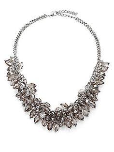 ABS by Allen Schwartz Jewelry Briolette Fringe Bib Necklace