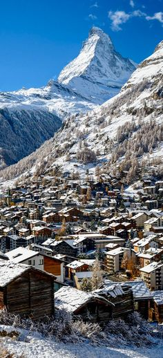 Visited in 1998 - The village of Zermatt, at the foot of the Matterhorn, Switzerland. Zermatt, Places To Travel, Places To See, Beautiful World, Beautiful Places, Voyage Europe, Vacation Spots, Wonders Of The World, Cities