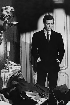 Mastroianni, my favourite male Italian actor. A perfect partner to Ms. Loren... From Impossible Cool.