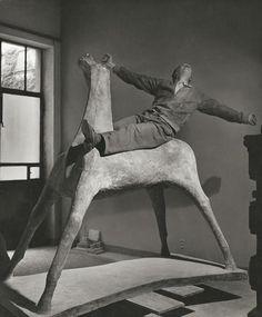 artist Marino Marini in his studio,1952 Photo by Herbert List