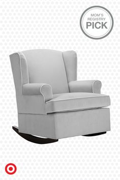 Soothe, read and feed Baby in the comfortable Eddie Bauer Wingback Upholstered Rocker. Padded arms and a contoured seat make this a cozy addition to Baby's nursery. Rock on.