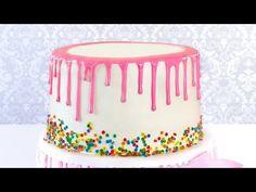Подтеки из Белого Шоколада. Как покрасить белый шоколад - YouTube Cake Decorating, Food And Drink, Birthday Cake, Cooking, Sweet, Desserts, Youtube, Deserts, Bakken