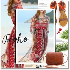Boho by svijetlana on Polyvore featuring мода, WithChic, Topshop, boho and shein