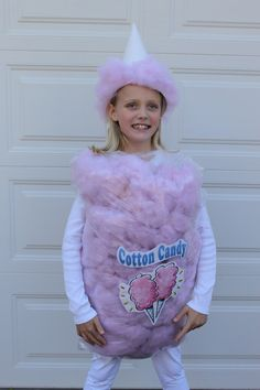 The finished cotton candy costume