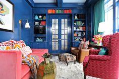 The Decorista-Domestic Bliss: Wallcolor Wednesday: Cobalt blue