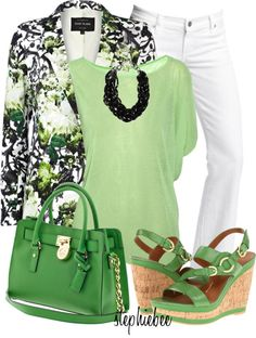 """""""Floral Blazer"""" by stephiebees on Polyvore"""