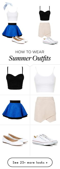 """""""Summer outfits #2"""" by s-avery on Polyvore featuring FAUSTO PUGLISI, BCBGMAXAZRIA, Converse, Chloé and Topshop"""
