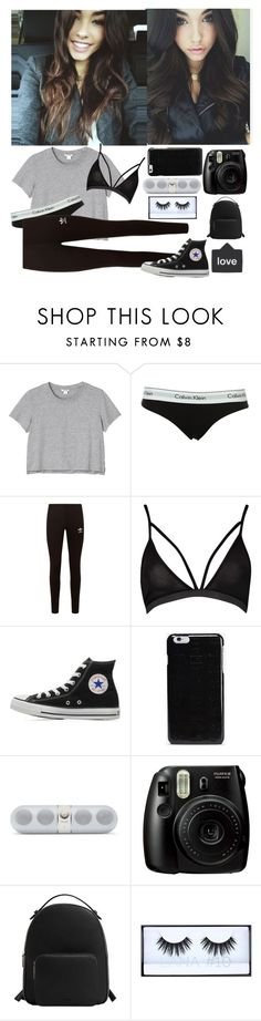 """""""With Daddy -Giggles- ~Jade"""" by fangirling-anons ❤ liked on Polyvore featuring Monki, Calvin Klein, adidas Originals, Boohoo, Converse, Maison Margiela, Beats by Dr. Dre, Fujifilm, MANGO and Huda Beauty"""
