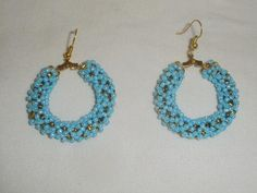 Sky Blue Hook Hoop Earrings