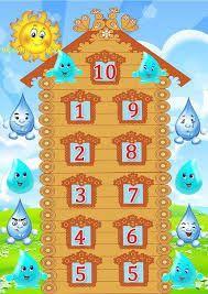 Imagini pentru числовые домики счет до 10