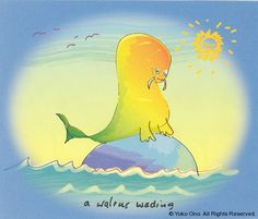 A WALRUS WADING - The Artwork of John Lennon - Epic Rights Represents the Art of John Lennon for Licensing and Merchandising