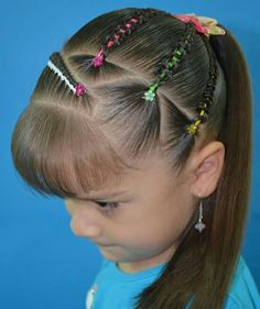 Super hairstyles for kids cool Ideas Easy Toddler Hairstyles, Baby Girl Hairstyles, Baddie Hairstyles, Undercut Hairstyles, Crown Hairstyles, Elegant Hairstyles, Beautiful Hairstyles, Medium Hair Styles, Curly Hair Styles