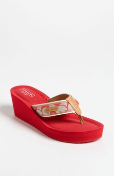 cd2b02fb045f COACH  Juliet  Flip Flop available at  Nordstrom Coach Sneakers