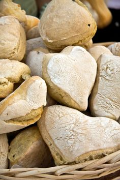 heart shaped bread rolls