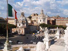 Piazza Venezia, Rome, Italy.  Love it here