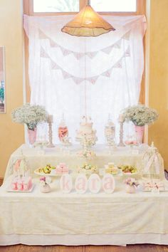 Shabby Chic first birthday party.  @Amy Hayes - this has you written all over it! :)