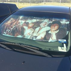 i NEED this Millennium Falcon car sunshade. it's not on thinkgeek anymore and the one that was on ebay sold back in October 2011. apparently, they're very hard to find. nooooo D':