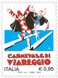 """Emissione di un francobollo ordinario appartenente alla serie tematica """"le Ricorrenze"""" dedicato al Carnevale di Viareggio"""