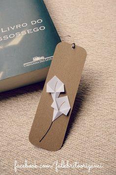 MArca páginas lirios de papiroflexia   -   Origami lily Bookmark