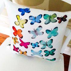 Butterfly Pillow For a Friend Decorative by LimezinniasDesign