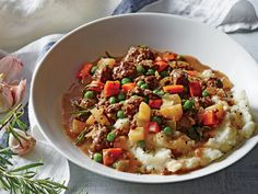 To keep things lightning-fast, we forgo the layered-in-a-skillet approach to shepherd's pie and instead serve the veggie-flecked beef mixture on top of a bed of creamy mashed potatoes. View Recipe: Upside-Down Shepherd's Pie