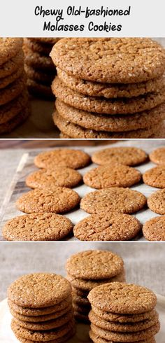 Chewy Old-Fashioned Molasses Cookies Drop Cookies, Fun Cookies, Old Fashioned Molasses Cookies, Brownie Bites, Incredible Recipes, Best Cookie Recipes, Oven Racks, Cookies Ingredients, Original Recipe