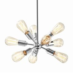 Style Selections Grayford 19.69-in Brushed Nickel Vintage Multi-Light Star Pendant