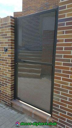 Design modern gate 45 Ideas for 2019 Steel Gate Design, Front Gate Design, House Gate Design, Door Gate Design, Fence Design, Screen Design, Side Gates, Front Gates, Entrance Gates