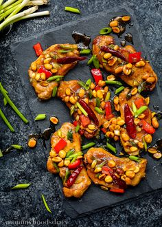 Jazz up your weeknight dinner with these Easy Kung Pao Pork Chops!! They're super easy to make and full of flavors. It will be ready in 30 minutes or less. https://mommyshomecooking.com