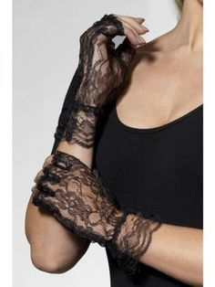 Genuine Smiffys BRAND Gloves Black Lace Fancy Dress Madonna Pop 98251 for sale online Madonna Fancy Dress, Burlesque Fancy Dress, Ladies Fancy Dress, 80s Dress, Dress Up Costumes, Costume Wigs, Costume Ideas, Lace Gloves, Fingerless Gloves