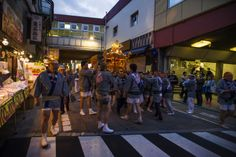 During the last days of May and the first days of June a number of shrines and temples around Asuksabashi station throws a big joint festival