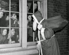 William Vanderson - Santa Claus and children, East Ham, London, 1950