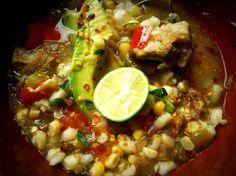 Pork and homony soup