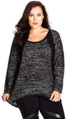 Plus Size Salt N Pepper Sweater