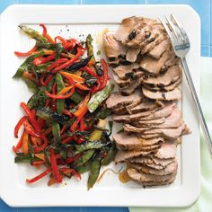 Thanks to the broiler's high heat, elegance is effortless -- and fast -- in our pork tenderloin with snow peas, bell peppers, carrots, and scallions. Try to cut the bell peppers and carrots the same width as the snow peas; this way, all the vegetables should finish cooking at the same time.