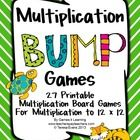 Multiplication Games 27 Multiplication Bump Games by Games 4 Learning  This collection of printable Multiplication games contains 27 Multiplication...