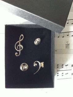 Bass & Treble Clef Pin Badges Gift Box - Music Teacher or Musician Gift! by CandyStoreRockGifts on Etsy