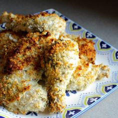 Chicken marinated in buttermilk and then coated in Panko breadcrumbs with fresh dill and oven roasted to perfection.