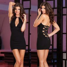 Sexy Women Club Wear Evening Cocktail Party Dress Backless Zipper Back E277 #Unbranded #StretchBodycon #Clubwear