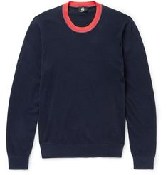 Contrast-Trimmed Cotton-Blend Sweater | MR PORTER