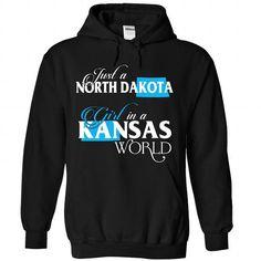 A NORTH DAKOTA-KANSAS girl Blue02 - #mason jar gift #gift friend. BUY-TODAY => https://www.sunfrog.com/States/A-NORTH-DAKOTA-2DKANSAS-girl-Blue02-Black-Hoodie.html?68278
